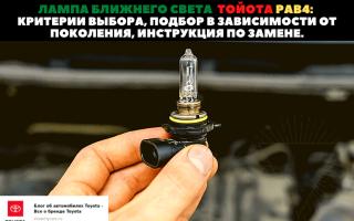 💡Как выбрать и самостоятельно поменять лампочки ближнего света для Toyota RAV4