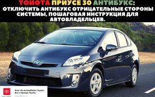🏁Инструкция по отключению антипробуксовочной системы на Toyota Prius 30