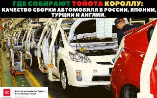 🏁В каких странах производят и собирают автомобиль Toyota Corolla