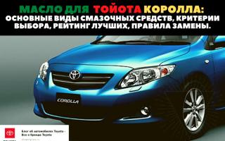 🏁Советы по выбору хорошего моторного масла для автомобиля Toyota Corolla