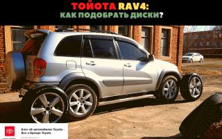 🏁Как подобрать диски для автомобиля Toyota RAV4