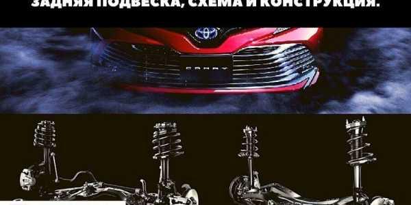 🏁Схема подвесок Toyota Camry