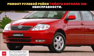 🏁Подробная инструкция по замене и ремонту рулевой рейки на авто Toyota Corolla 120