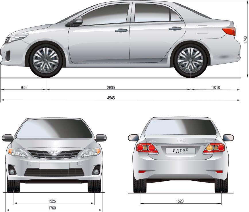 Характеристики Corolla E120